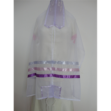 Load image into Gallery viewer, Glow - Tallit with Lilac and Pink Stripes, bat mitzvah tallit, girls tallit