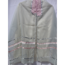 Load image into Gallery viewer, Pink on Gray Talilt for girl, Tallit for women