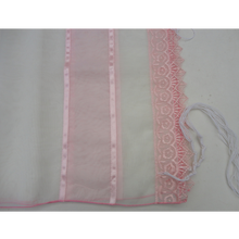 Load image into Gallery viewer, Lace Pink Tallit for Girl - Bat Mitzvah Tallit