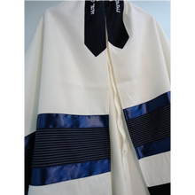 Load image into Gallery viewer, Blue Tallit for Boy - Bar Mitzvah Tallit, Contemporary tallit, custom tallit from Israel by Galilee Silks