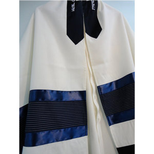 Blue Tallit for Boy - Bar Mitzvah Tallit, Contemporary tallit, custom tallit from Israel by Galilee Silks