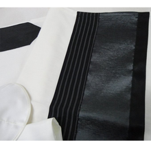 Load image into Gallery viewer, Black and Silver Bar Mitzvah Tallit