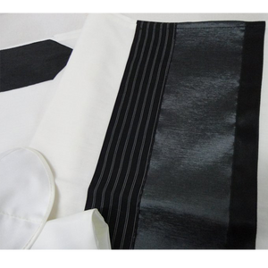 Black and Silver Bar Mitzvah Tallit