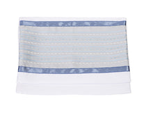 Load image into Gallery viewer, Light Blue Morse Wool Bar Mitzvah Tallit