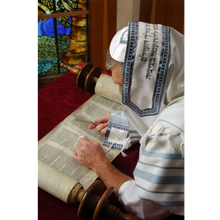 Load image into Gallery viewer, A Classic Jewish light Blue and Grey Tallit