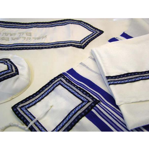Jewish Tallit in Royal Blue