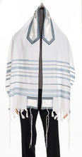 Load image into Gallery viewer, peace tallit, wool tallit, bar mitzvah tallit by galilee silks