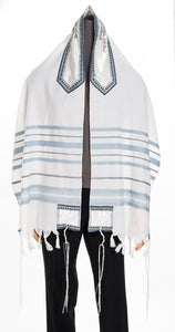 peace tallit, wool tallit, bar mitzvah tallit by galilee silks
