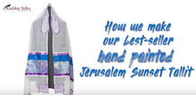 Load image into Gallery viewer, A Jerusalem Sunset - Tallit for women, Bat Mitzvah Tallit, girls tallit video, womens tallit