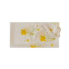 Load image into Gallery viewer, The Daffodils Hand Painted Silk Tallit for Women, Bat Mitzvah Tallit, Tallit for Girl flat