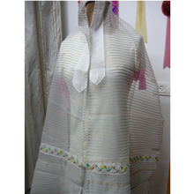 Load image into Gallery viewer, Floral Tallit - bat mitzvah tallit for girl