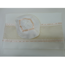 Load image into Gallery viewer, Apricot Panel Tallit for Women, Bat Mitzvah Tallit