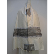 Load image into Gallery viewer, Gray Silk Tallit For Woman