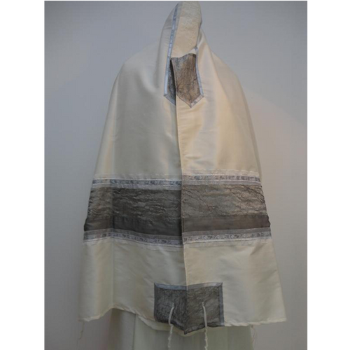 Gray Silk Tallit For Woman