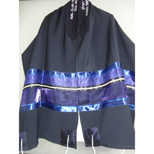 Load image into Gallery viewer, Navy Blue Wool Tallit