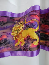 Load image into Gallery viewer, Purple Lion Men's Tallit, Hebrew Prayer Shawl, Bar Mitzvah Tallit by Galilee Silks Israel