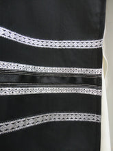 Load image into Gallery viewer, BLACK TALLIT, bar mitzvah tallit by Galilee Silks, modern tallit
