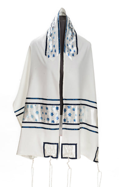Celestial Stars of David Viscose Tallit