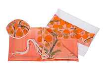 Load image into Gallery viewer, Peach Silk Tallit for Woman, Bat Mitzvah Tallit - Galilee Silks