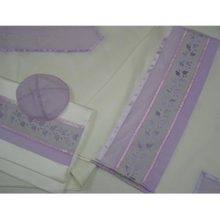 Load image into Gallery viewer, he Lilac Pomegranate Silk Tallit