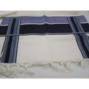 Modern Men Tallit With Blue Decorations