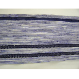Tallit with Textured Blue Decoration
