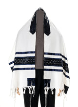 Load image into Gallery viewer, Star of David wool tallit Jewish prayer shawl