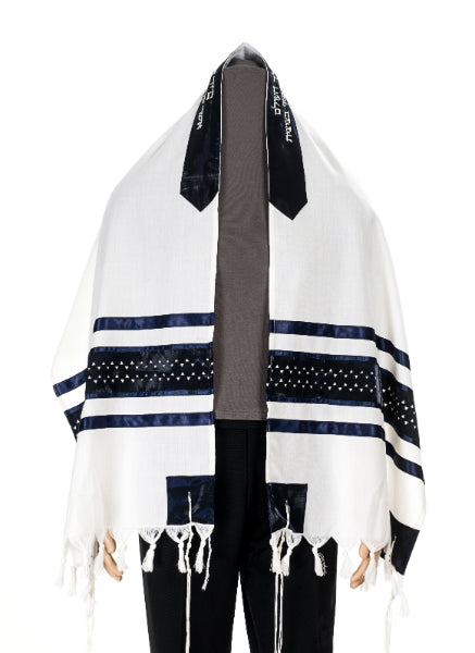Star of David Wool Tallit, Bar Mitzvah Tallit Set, Jewish Prayer Shawl,  Wedding Tallit, Hebrew Prayer Shawl