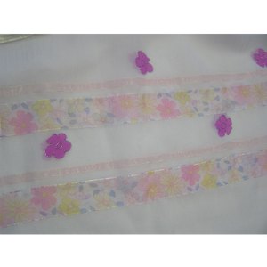 Pink Flowered Tallit for Girl, Bat Mitzvah Tallit