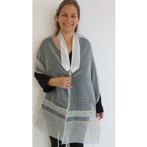 The Floral Tallit by Galilee Silks, womens tallit, girls tallit photo