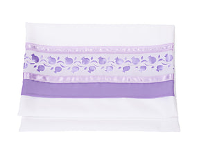 Lilac Pomegranates Tallit for women, Bat Mitzvah Tallit bag, Silk Tallit, Girls Tallit by Galilee Silks
