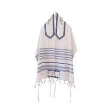 Load image into Gallery viewer, Peace Tallit for men, Bar Mitzvah tallit, wedding tallit, wool tallit from Israel, custom tallit by Galilee Silks