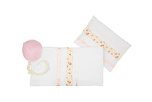 Load image into Gallery viewer, Pink and Peach Tallit for Girl, Bat Mitzvah Tallit Set by Galilee Silks Israel