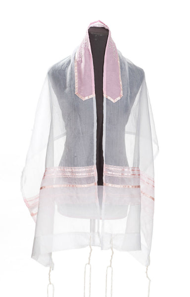 The Pink Stripes Tallit