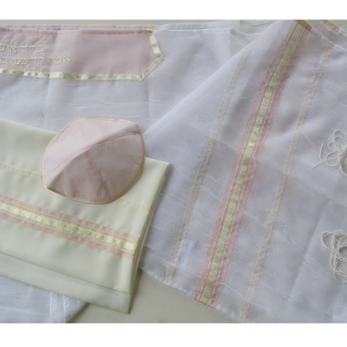 Pink And Peach Tallit On Sale