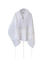 Load image into Gallery viewer, Gold Circles Tallit for women, girl's Tallit, Bat Mitzvah Tallit