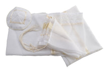 Load image into Gallery viewer, Cream Paisley Tallit for women, girls tallit, bat mitzvah tallit, womens tallit set