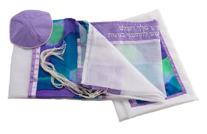 Silk Tallit for girl, Bat Mitzvah Tallit, Hand made Tallit set, girls tallit by Galilee Silks