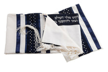 Load image into Gallery viewer, Exclusive Magen David wool Tallit set by Galilee Silks Israel