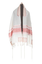 Load image into Gallery viewer, Pink Magen David Tallit for Girls by Galilee Silks Israel