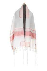 Pink Magen David Tallit for Girls by Galilee Silks Israel