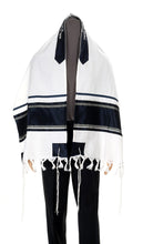 Load image into Gallery viewer, Wool Tallit, Dark Stripes Tallit from Israel, Custom tallit Shop, Jewish Prayer Shawl