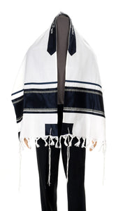Wool Tallit, Dark Stripes Tallit from Israel, Custom tallit Shop, Jewish Prayer Shawl