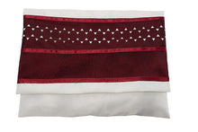 Load image into Gallery viewer, A Bordeaux Star of David Tallit bag, Bar Mitzvah Tallit, Wool Tallit, Jewish Prayer Shawl