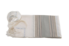 Load image into Gallery viewer, Talit Stone stripes Wool Tallit, Bar Mitzvah Tallit for boy, Wedding Tallit Prayer Shawl