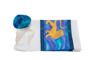 Lion of Judah Silk Tallit for men