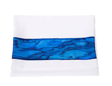 Load image into Gallery viewer, Sea Blue Silk Stripes Girls Tallit, Bat Mitzvah Tallit, tallit for Girl, Silk Tallit, Feminine Tallit bag, Women's Tallit Prayer Shawl