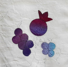 Load image into Gallery viewer, Silk Pomegranates, Grapes and Oat Hand Painted Appliques Challah Cover CU1