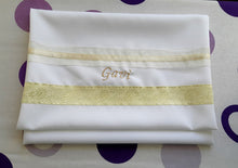 Load image into Gallery viewer, Cream Paisley Tallit for women, girls tallit, bat mitzvah tallit bag Gavi, womens tallit