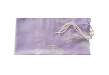 Load image into Gallery viewer, Lilac waves Silk Tallit for women, Tallit for Girl, Bat Mitzvah Tallit, Feminine Tallit, Women's Tallit Prayer Shawl flat 1